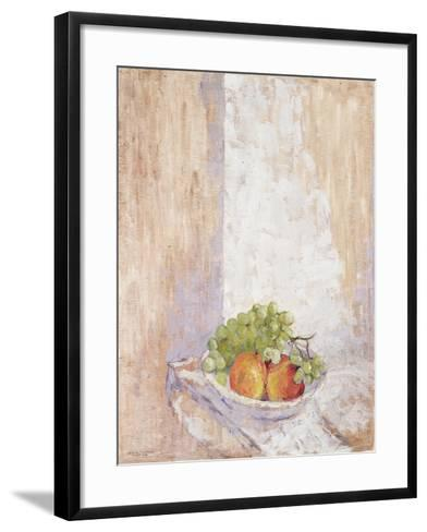 Peaches and Grapes, 1993-Diana Schofield-Framed Art Print
