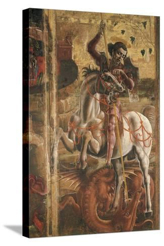 St George and the Princess, Organ-Shutter Wood in the Cathedral of Ferrara, 1469-Cosme Tura-Stretched Canvas Print