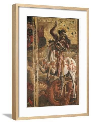 St George and the Princess, Organ-Shutter Wood in the Cathedral of Ferrara, 1469-Cosme Tura-Framed Art Print