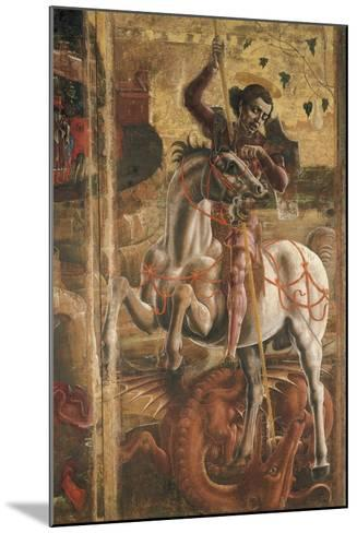 St George and the Princess, Organ-Shutter Wood in the Cathedral of Ferrara, 1469-Cosme Tura-Mounted Giclee Print