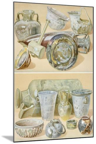 Reproduction of Glass Objects, from the Houses and Monuments of Pompeii-Fausto and Felice Niccolini-Mounted Giclee Print