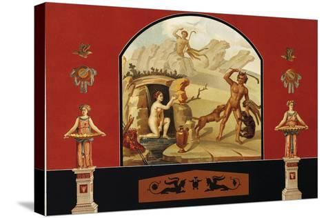 Diana and Actaeon, House of Sallust, Pompei, Volume III, Plate III-Fausto and Felice Niccolini-Stretched Canvas Print