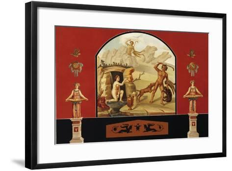 Diana and Actaeon, House of Sallust, Pompei, Volume III, Plate III-Fausto and Felice Niccolini-Framed Art Print