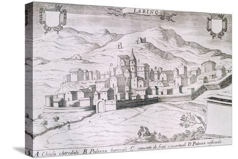 View of the City of Larino, Molise, from the Kingdom of Naples in Perspective-Giovan Battista Pacichelli-Stretched Canvas Print