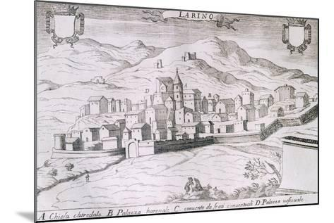 View of the City of Larino, Molise, from the Kingdom of Naples in Perspective-Giovan Battista Pacichelli-Mounted Giclee Print