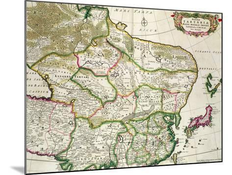 Map of Mongolia Showing Part of Russia, Japan and China, C.1680-Frederick de Wit-Mounted Giclee Print