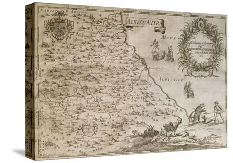Map of Ancient Abruzzo, 1702-Giovan Battista Pacichelli-Stretched Canvas Print