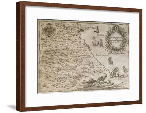 Map of Ancient Abruzzo, 1702-Giovan Battista Pacichelli-Framed Art Print