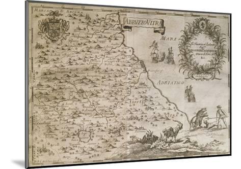 Map of Ancient Abruzzo, 1702-Giovan Battista Pacichelli-Mounted Giclee Print