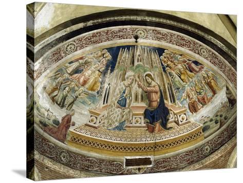 Coronation of Mary, San Michele Maggiore Basilica, Pavia, Italy-Giovanni and Agostino Da Vaprio-Stretched Canvas Print
