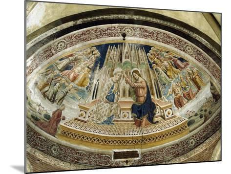 Coronation of Mary, San Michele Maggiore Basilica, Pavia, Italy-Giovanni and Agostino Da Vaprio-Mounted Giclee Print