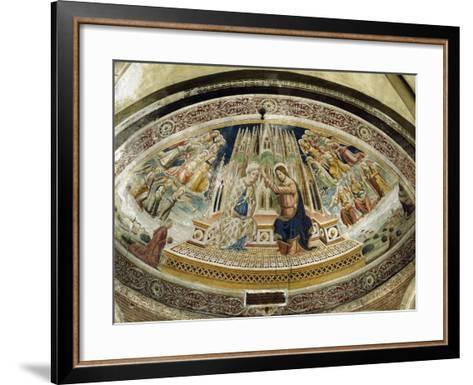 Coronation of Mary, San Michele Maggiore Basilica, Pavia, Italy-Giovanni and Agostino Da Vaprio-Framed Art Print