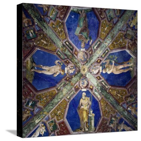Frescoes from the Vault of the Chapel of the Assumption-Giovanni Da Spoleto-Stretched Canvas Print