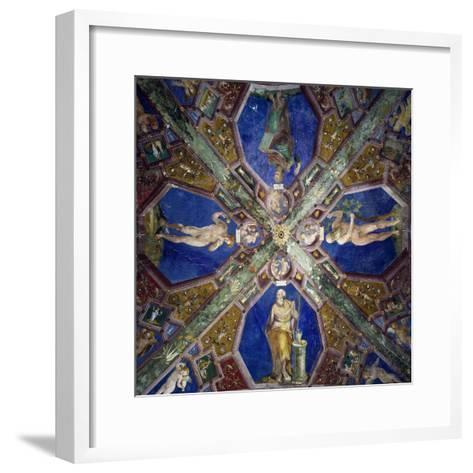 Frescoes from the Vault of the Chapel of the Assumption-Giovanni Da Spoleto-Framed Art Print