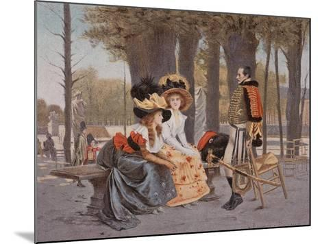 La Causerie-Francois Flameng-Mounted Giclee Print