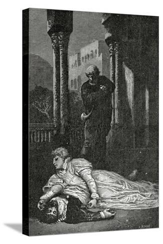 Dona Sol Dies on Hernani?S Corpse, 19th Century-Francois Nicolas Chifflart-Stretched Canvas Print