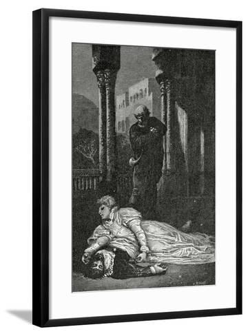 Dona Sol Dies on Hernani?S Corpse, 19th Century-Francois Nicolas Chifflart-Framed Art Print