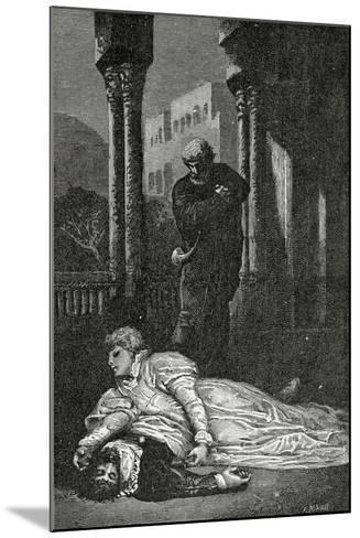 Dona Sol Dies on Hernani?S Corpse, 19th Century-Francois Nicolas Chifflart-Mounted Giclee Print