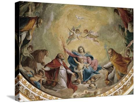Virgin and Child with Saints, 1768-Giacomo Zampa-Stretched Canvas Print