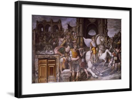 Alexander Great Taming Bucephalus, 1516-1517-Giovanni Antonio Bazzi-Framed Art Print
