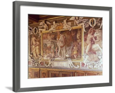 Detail from Francis I Gallery, Decorated in 1534-1537-Francesco Primaticcio-Framed Art Print