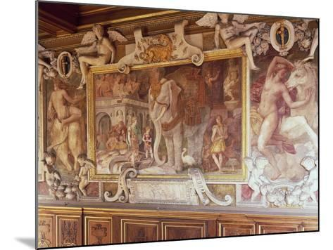 Detail from Francis I Gallery, Decorated in 1534-1537-Francesco Primaticcio-Mounted Giclee Print