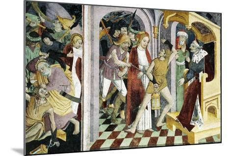 France, La Brigue, Notre-Dame Des Fontaines Chapel, Jesus Christ before Annas, 1491-Giovanni Canavesio-Mounted Giclee Print
