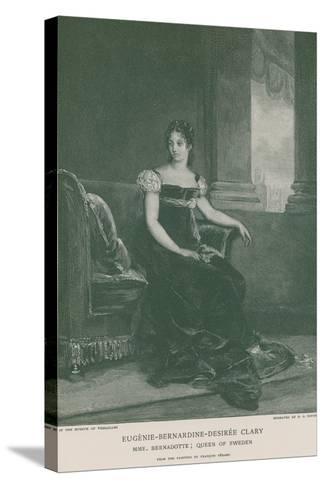 Eugenie-Bernardine-Desiree Clary-Francois Gerard-Stretched Canvas Print