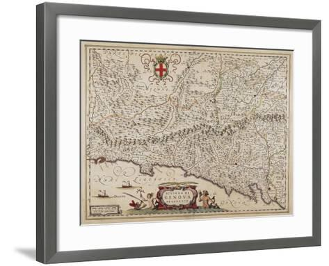 Map of Eastern Liguria Region-Giovanni Antonio Magini-Framed Art Print