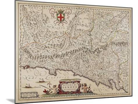 Map of Eastern Liguria Region-Giovanni Antonio Magini-Mounted Giclee Print