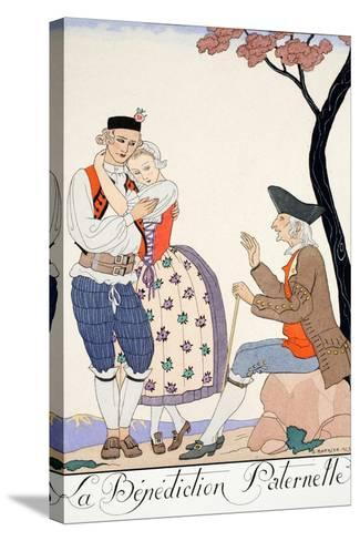 Paternal Blessing-Georges Barbier-Stretched Canvas Print