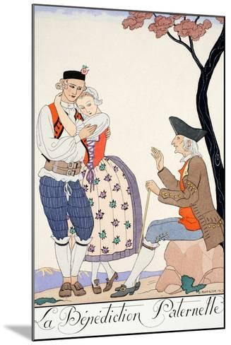 Paternal Blessing-Georges Barbier-Mounted Giclee Print
