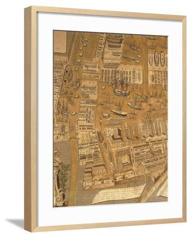 Detail from Perspective Map of Venice Dockyard, 1798-Gian Maria Maffioletti-Framed Art Print