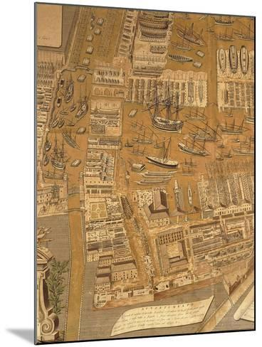 Detail from Perspective Map of Venice Dockyard, 1798-Gian Maria Maffioletti-Mounted Giclee Print