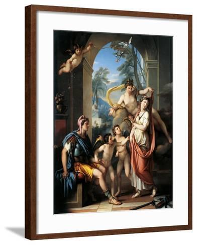 Venus Offering Helen to Paris-Gavin Hamilton-Framed Art Print