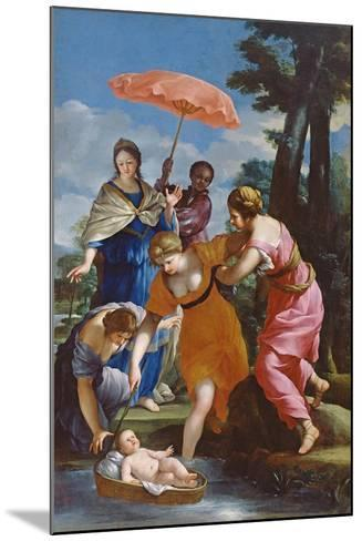 Moses Rescued from the Water, C.1655-57-Giovanni Francesco Romanelli-Mounted Giclee Print