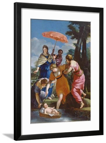 Moses Rescued from the Water, C.1655-57-Giovanni Francesco Romanelli-Framed Art Print