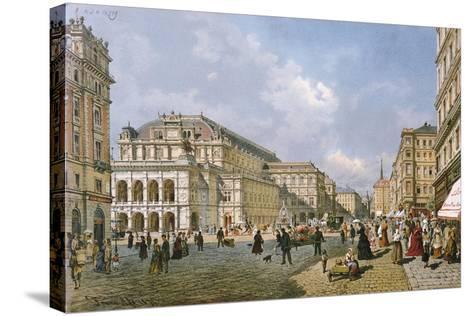 View of the Wiener Staatsoper, Vienna, 1872-Franz Alt-Stretched Canvas Print