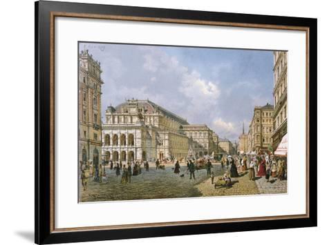 View of the Wiener Staatsoper, Vienna, 1872-Franz Alt-Framed Art Print
