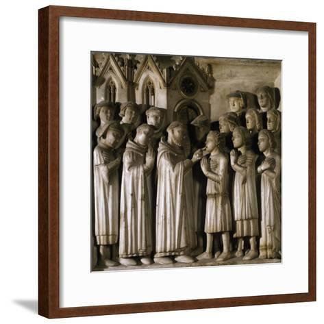 Miracle of Host, Detail from Tomb of Saint Peter Martyr, 1339-Giovanni Di Balduccio-Framed Art Print