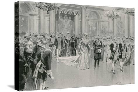 Court Ball-Frederic De Haenen-Stretched Canvas Print