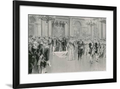 Court Ball-Frederic De Haenen-Framed Art Print