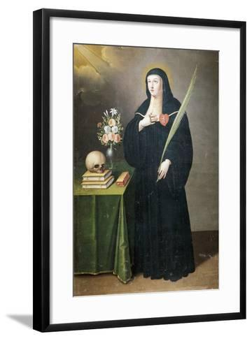 St Gertrude, 17th-18th Century-Francisco de Leon-Framed Art Print