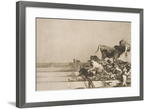 Desgracias Acaecidas En El Tendido De La Plaza De Madrid, Y Muerte Del Alcalde De Tor Rejon-Suzanne Valadon-Framed Art Print