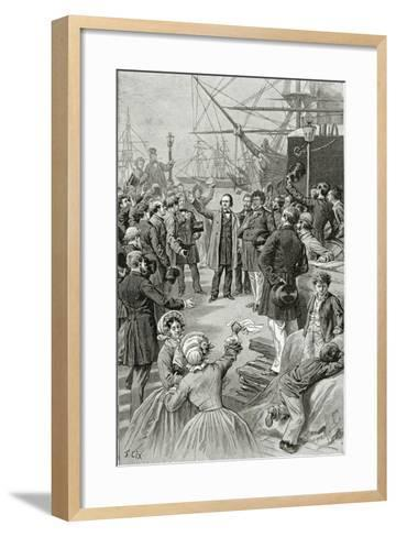 Victor Hugo Hails a Universal Republic During a Speech While in Exile on 1st August 1852-Frederic Lix-Framed Art Print
