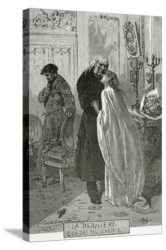 Le Dernier Gorge Du Chalice - Illustration from Les Mis?rables, 19th Century-Frederic Lix-Stretched Canvas Print