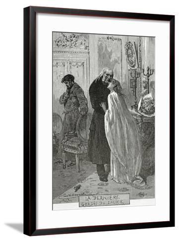 Le Dernier Gorge Du Chalice - Illustration from Les Mis?rables, 19th Century-Frederic Lix-Framed Art Print