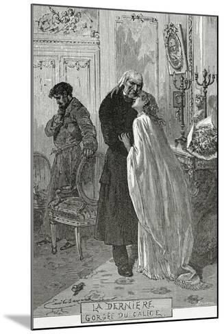 Le Dernier Gorge Du Chalice - Illustration from Les Mis?rables, 19th Century-Frederic Lix-Mounted Giclee Print