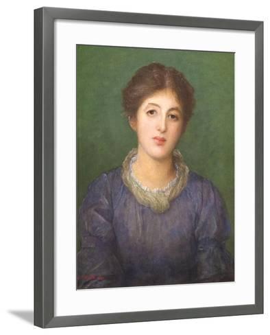 Euterpe Ionides, 1881-George Frederick Watts-Framed Art Print
