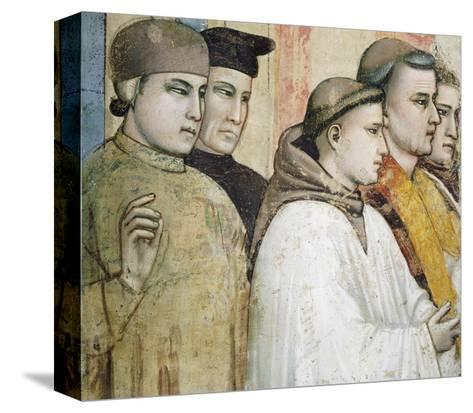 Italy, Florence, Basilica of Holy Cross, Bardi Chapel, Death of St Francis, 1325-1330-Giotto di Bondone-Stretched Canvas Print